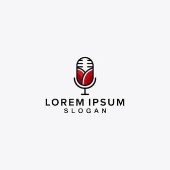 Création de logo de podcast rose