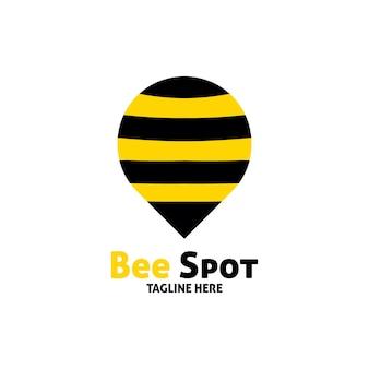 Création de logo de point d'abeille