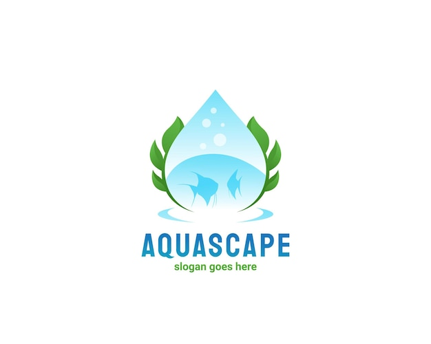 Création de logo de poisson d'eau douce aquascape
