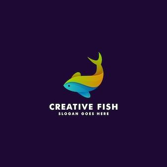 Création de logo de poisson. illustration de symbole icône animal