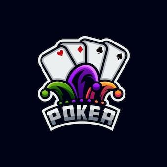 Création De Logo De Poker Vecteur Premium