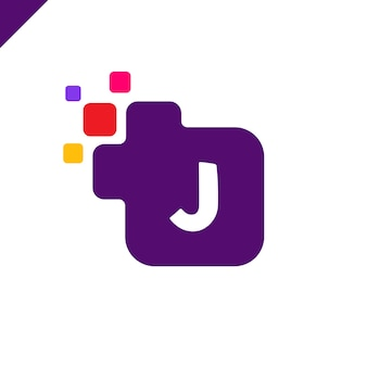Création de logo de police entreprise lettre carrée