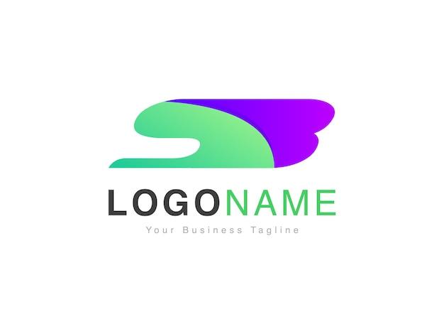 Création de logo de portée initiale sb moderne