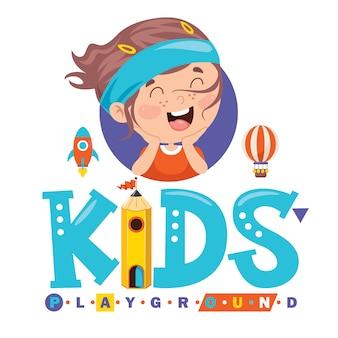 Création de logo pour aire de jeux pour enfants