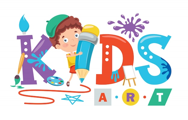 Création de logo pour l'art des enfants