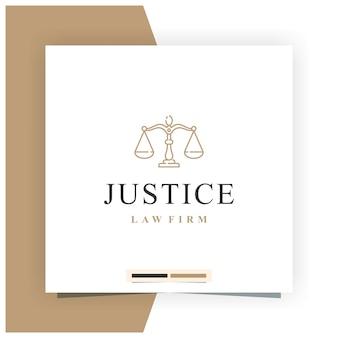Création de logo pour le cabinet d'avocats justice