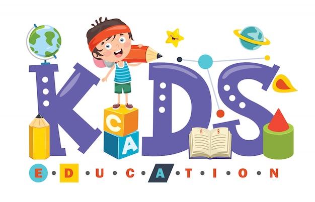 Création de logo pour l'éducation des enfants