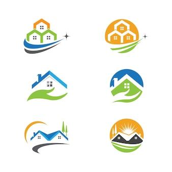 Création de logo pour l'immobilier, la propriété et la construction