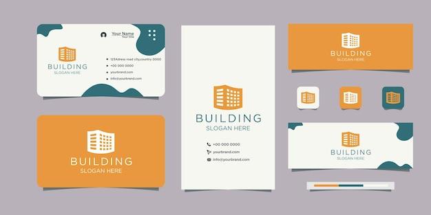 Création de logo pour le logo et la carte de visite de l'entreprise immobilière