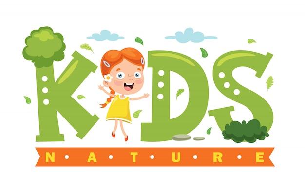 Création de logo pour la nature des enfants