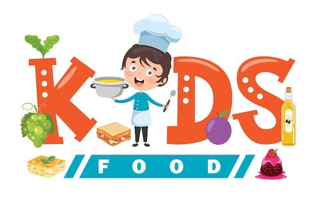 Création de logo pour la nourriture des enfants