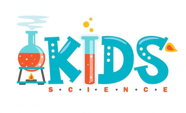 Création de logo pour la science des enfants
