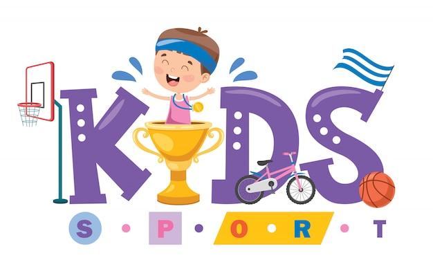 Création de logo pour le sport des enfants
