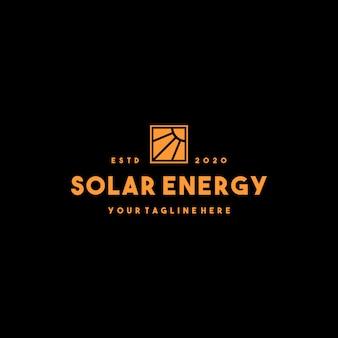 Création de logo professionnel d'énergie solaire