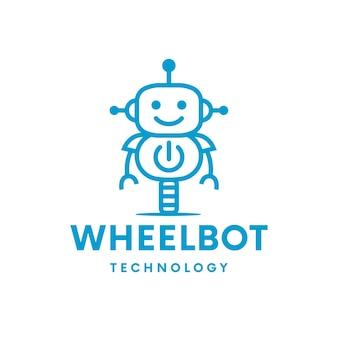 Création de logo de puissance de robot de roue