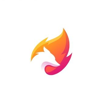 Création de logo renard coloré génial