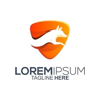 Création de logo de renard coloré