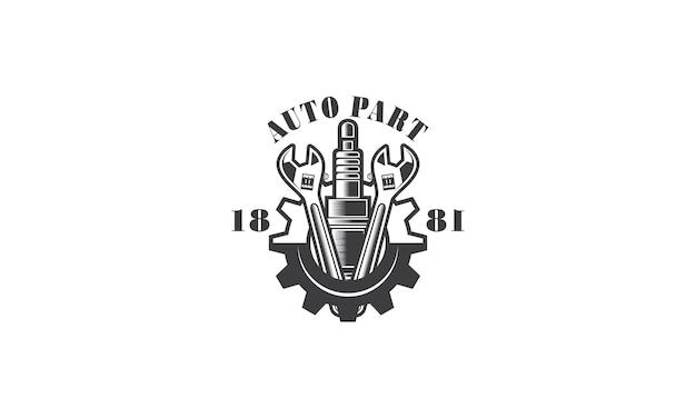 Création de logo de réparation d'ingénierie de services mécaniques