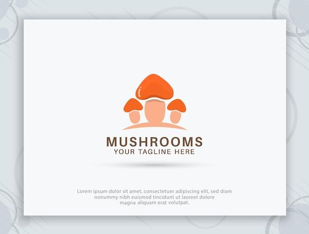 Création de logo de restaurant de champignons