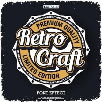 Création de logo rétro avec emblème de style vintage