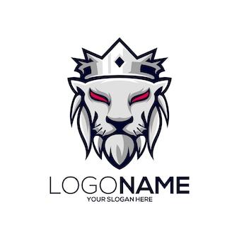 Création de logo de roi lion
