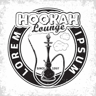 Création de logo de salon vintage hookah
