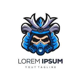 Création de logo de samouraï et masque