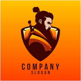 Création de logo samouraï