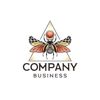 Création de logo scarabée égyptien