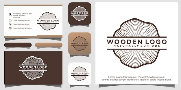 Création de logo de scierie de bois