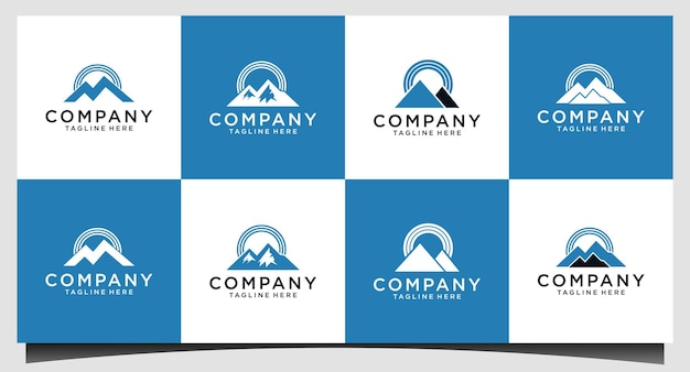 Création de logo de signal de montagne