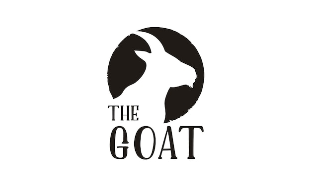 Création de logo silhouette de chèvre