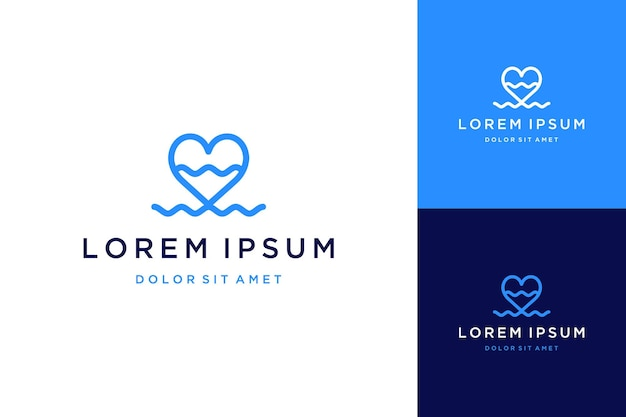 Création de logo simple ou coeur avec des vagues