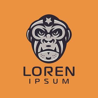 Création de logo de singe