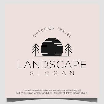 Création de logo de soleil de pin