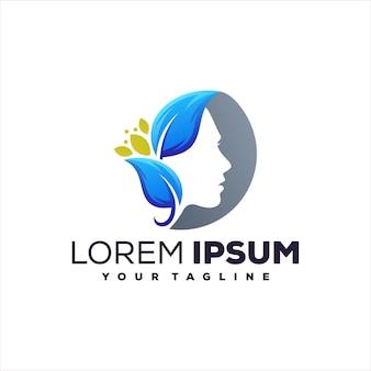 Création de logo spa beauté lady
