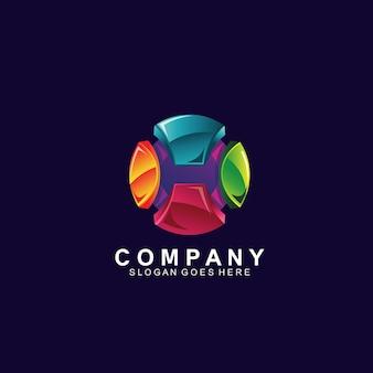 Création de logo de sphère 3d abstraite colorée