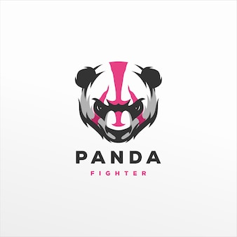 Création de logo de sport de jeu panda