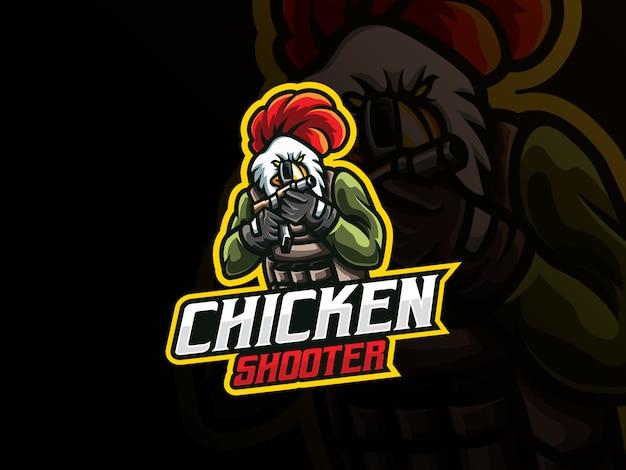 Création de logo sport mascotte coq