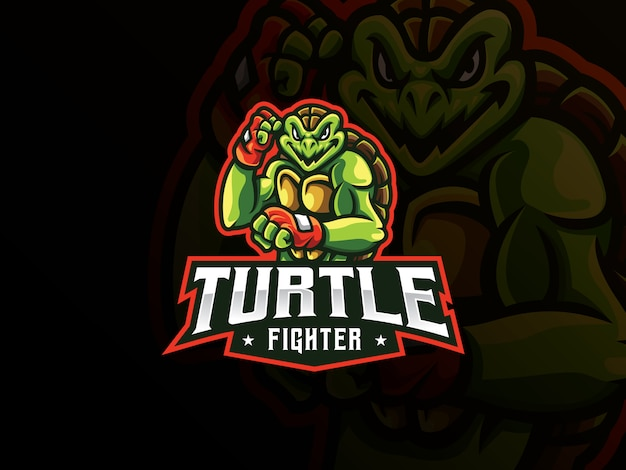 Création de logo sport mascotte tortue