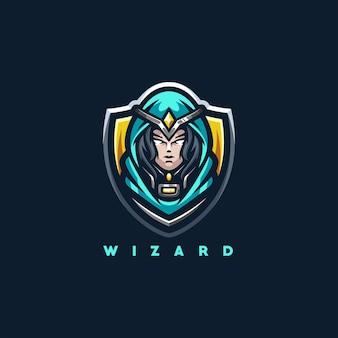 Création de logo de sport wizard lady