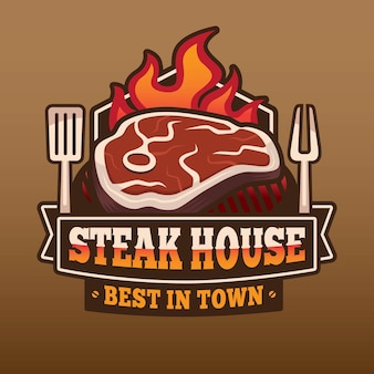 Création de logo de steak house