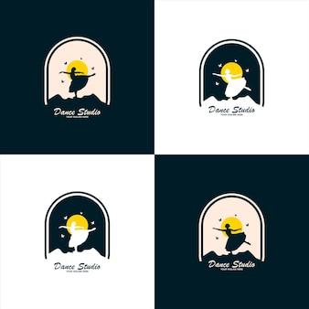 Création de logo de studio de danse. logo de forme de corps vectoriel. concept d'icône de danse.