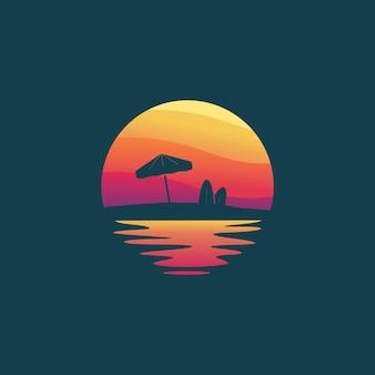 Création de logo sunset beach