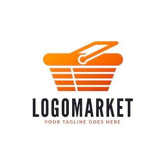 Création de logo de supermarché