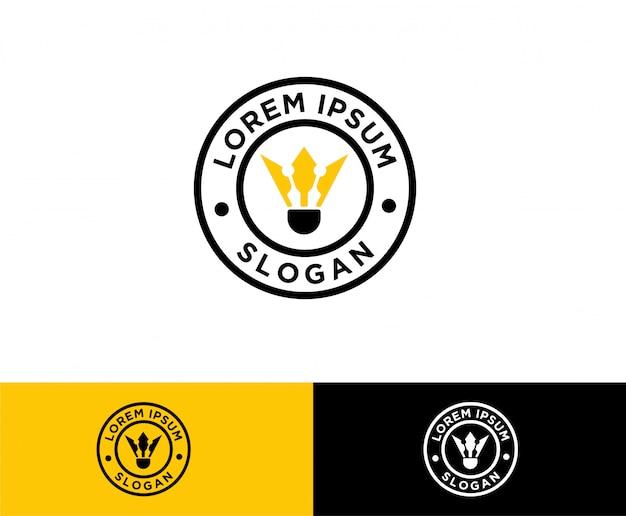 Création de logo symbole badminton volant