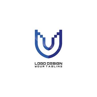 Création de logo de symbole u