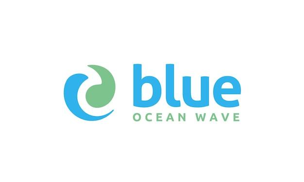 Création de logo de symbole vague cercle moderne