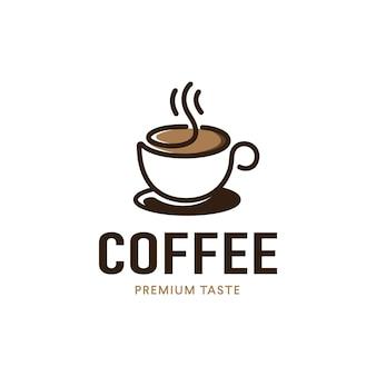 Création de logo de tasse de café