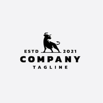 Création de logo de taureau